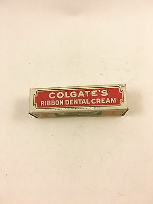 Colgate Ribbon Dental Cream Free Sample Tooth Paste Vintage Collectible 1927