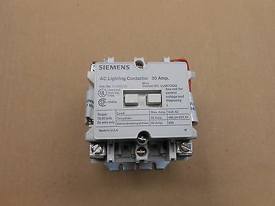 1 New Siemens Clm0C02480 Ac Lighting Contactor 30A 30 Amp 2 N.o. Open 480V Coil