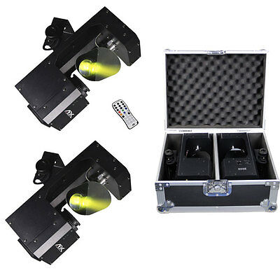 2 x AFX LED Scanner 10W Gobo Disco Effect Scan Mirror Light DMX + Remote Package
