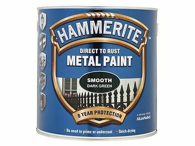 Hammerite 2.5 Litre  Dark Green  Direct to Rust Smooth Finish Metal Paint