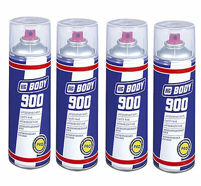 HB Body 900 Cavity Wax Oil Spray  - 5130000001 For Car And Van 4 Cans - 400ml