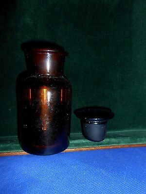 Antique Bottle Amber Glass Apothecary Pharmacy 1880's Medicine