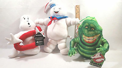 Ghostbusters Lot Of 3 Stay Puft Logo Slimer Marshmallow Man 12""