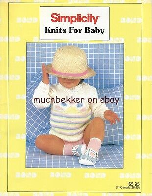 Simplicity Knits For Baby~ Hand Knitting AND Bond MACHINE KNITTING Pattern Book