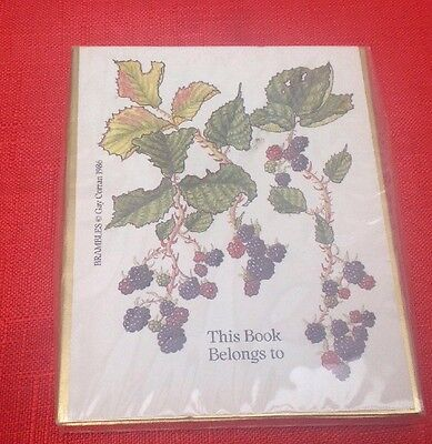 Unopened Bookplates, BRAMBLES,Gay Corran 1986,Approx 40,Antioch UK.