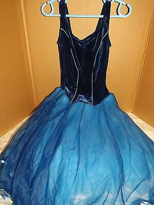 Curtain Call Costumes- Ballet Dance Costume Size ALA Adult Blue Shades