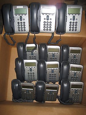 LOT OF 12 CISCO 7911 UNIFIED VoIP IP PHONE CP-7911 OFFICE TELEPHONES W/ STANDS
