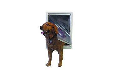 Ideal Ruff Weather Pet Door White, Super Large for pets to 120 lbs. **OPEN BOX**