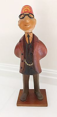 RARE VINTAGE ROMER OF ITALY Shriners Wood carved Statue Figurine