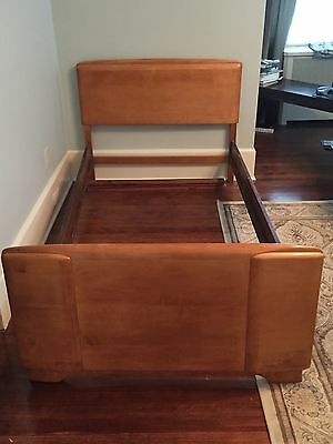 "Heywood Wakefield ""Mid-Century"" Champagne Twin Size Bed"