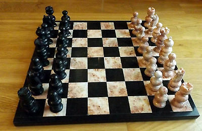 Hand Made Marble and Onyx Chess Set