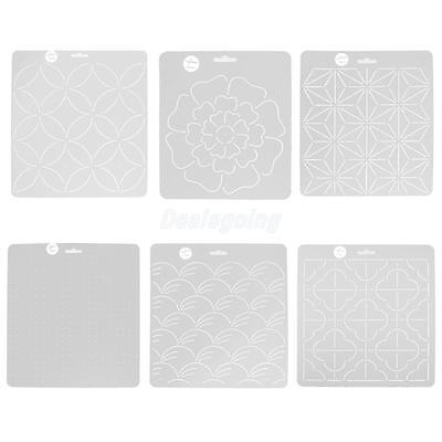 Plastic Quilt Template Stencils for Quilting Embroidery Patchwork Sewing Crafts