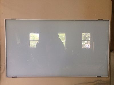 Dry erase white boards, glass, 44 3/8'' x 25'' and 44 3/8'' x 20''