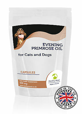 Evening Primrose Oil 500mg for Cats and Dogs Pets 30/60/90/120/180 Capsules
