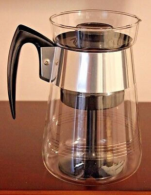 Vintage Corning Glass 6 Cup Stove Top Coffee Maker Percolator - Great Condition
