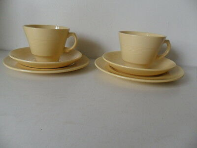 Woods Ware  2 Cups Saucers And Plates Jasmine
