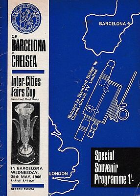 Barcelona V Chelsea Inter-Cities Fairs Cup Semi Final 25/5/66 Tv Relay