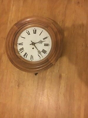 "10"" 8 Day French Dial Clock in Walnut Working  Order."
