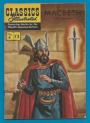 Classics Illustrated Comic #4  Macbeth by William Shakespeare #883