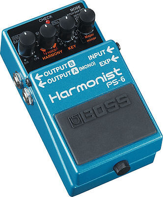 New Boss PS-6 Harmonist Pitch Shifter Guitar Effects Pedal!