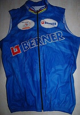 Biemme Berner Sleeveless Cycling Jersey Windstopper Respira Gore Vest Blue L Xl