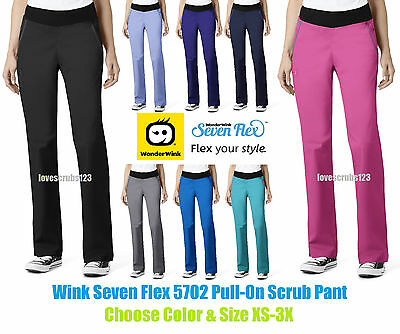 Wonder Wink Seven Flex Pull On Scrub Pant 5702 All Sizes&Colors Free Shipping!