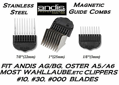 ANDIS STAINLESS STEEL MAGNETIC ATTACHMENT Blade COMB*Fit Most Oster,Wahl Clipper
