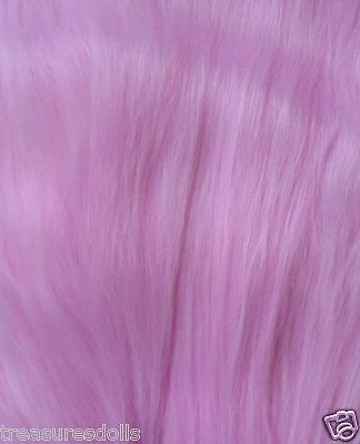 "DOLL HAIR 6-7"" Pink viscose-alpaca-Bjd-Monster High-Ooak-fairy-mermaid-wig-craft"
