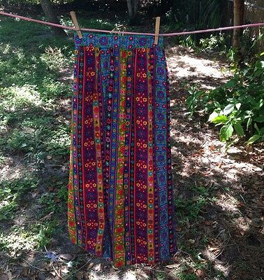 Vintage Girls 1970's Boho/Hippie Maxi Skirt