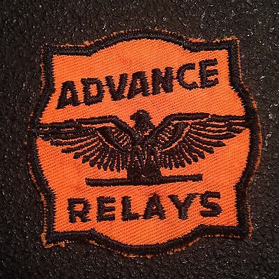 Vintage 1950s ADVANCE RELAYS Work Shirt Uniform Embroidered Patch Eagle Sew On