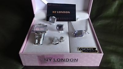 ny london jewellery set watch necklace earrings and ring with box new/unused