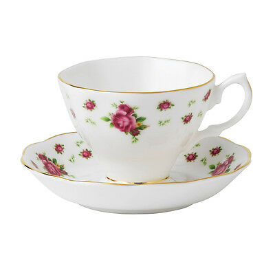 Royal Albert New Country Rose White  Vintage Teacup And Saucer  Set Rrp$115