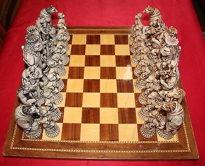 Reynard The Fox Chess Set with Antique Style Board  (Large)
