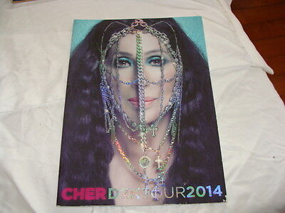 CHER D2K TOUR 2014 Original Tour Concert Book/Program. Complete Solid, Photos...
