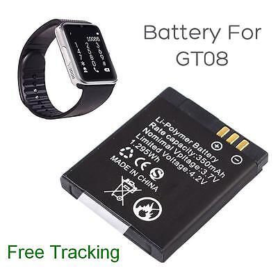 Original rechargeable Li-ion polymer battery 350mAh 3.7V for GT08 Smart Watch