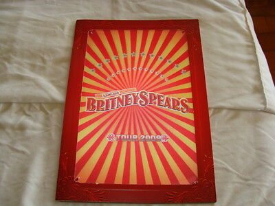 "BRITNEY SPEARS CIRCUS TOUR 13 1/4"" X 9 1/4"" Hologram Tour Program 2009 COMPLETE"