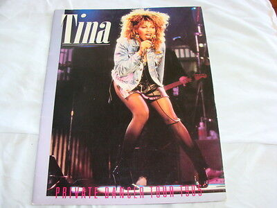 TINA TURNER PRIVATE DANCER TOUR PROGRAM 1985, Original with Great Pictures