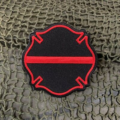 Thin Red Line Maltese Cross Patch