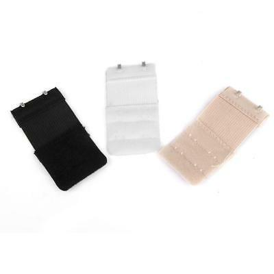 6 Pieces Bra Extender Bra Extension Strap, 2 Rows, 2,3 Hooks, 3 Colors Mixed