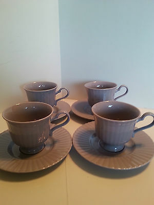 """Mikasa Potpourri """"lavender Sachet""""  4  Footed Cups And Saucers Fs600 Larry Laslo"""