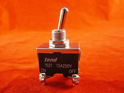 Spring Return-off tend T5R-21B 15A 250V On-Off Position Toggle Switch 4 Pin