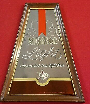 Collectable 1978 MICHELOB LIGHT  MIRROR A-FRAME ANNHEUSER BUSH ADVERTISING BAR