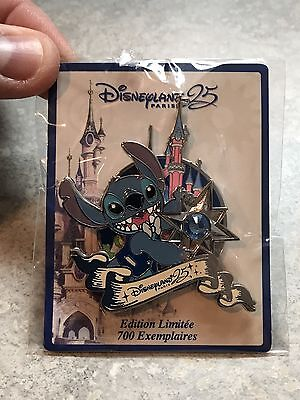 Disneyland Paris 25th Anniversary Stitch Pin Lilo And Stitch Pin LE 700
