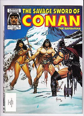 Savage Sword of Conan the Barbarian #121 (Feb 1986, Marvel Comics) Jusko Cover