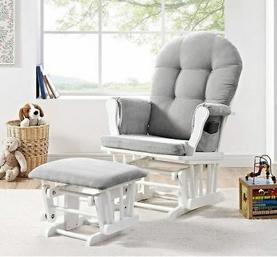 Glider Rocker With Ottoman Nursery Rockers And Gliders Baby Furniture  Unisex