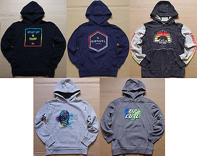 5 x Rip Curl Quiksilver Boys Pullover Zip Up Fleece Hoodies Jumpers sz 14 NWOT