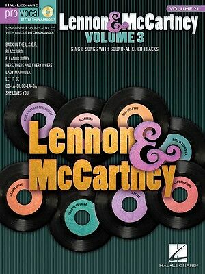 Pro Vocal Men's Edition Volume 21 Lennon & McCartney 3 - Vocal Songbook with CD