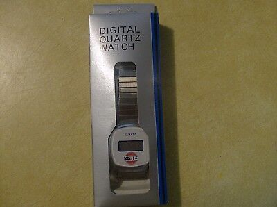 Vintage Digital Quartz Watch Gulf Oil Co Advertisment