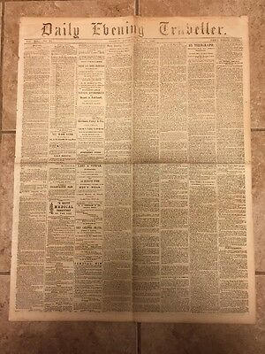 1863 Civil War Boston Newspaper DEATH of Confederate STONEWALL JACKSON