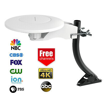HD-8000 360 Degree HDTV Digital Amplified Outdoor TV HD Antenna VHF UHF 120Mile